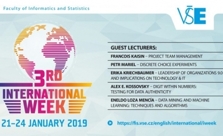 International Week na FIS – registrace do kurzů otevřena!